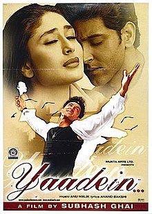 Hit movie Yaadein  by Anu Malik on songs download at Pagalworld