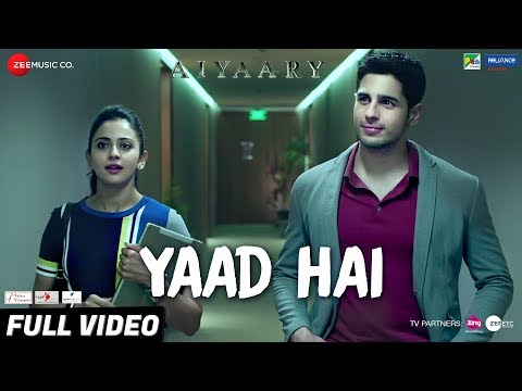 Download Yaad Hai Mp3 Song for free from pagalworld,Yaad Hai - Aiyaary song download HD.